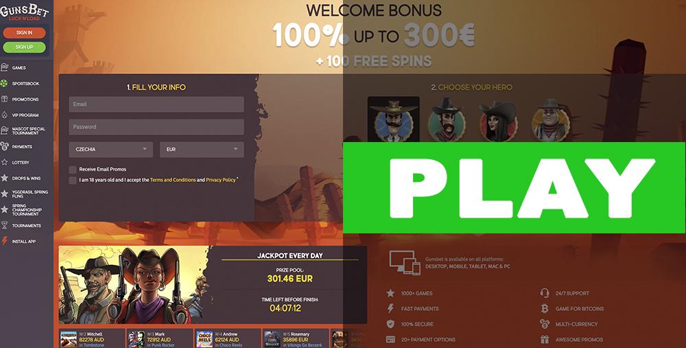 Gunsbet Casino Play